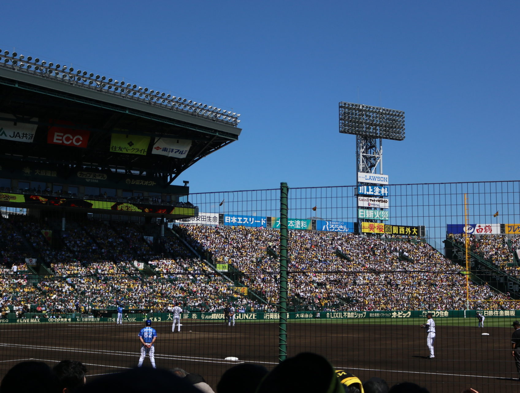 選手との距離が近い!甲子園球場のSMBCシートで阪神戦を楽しむ