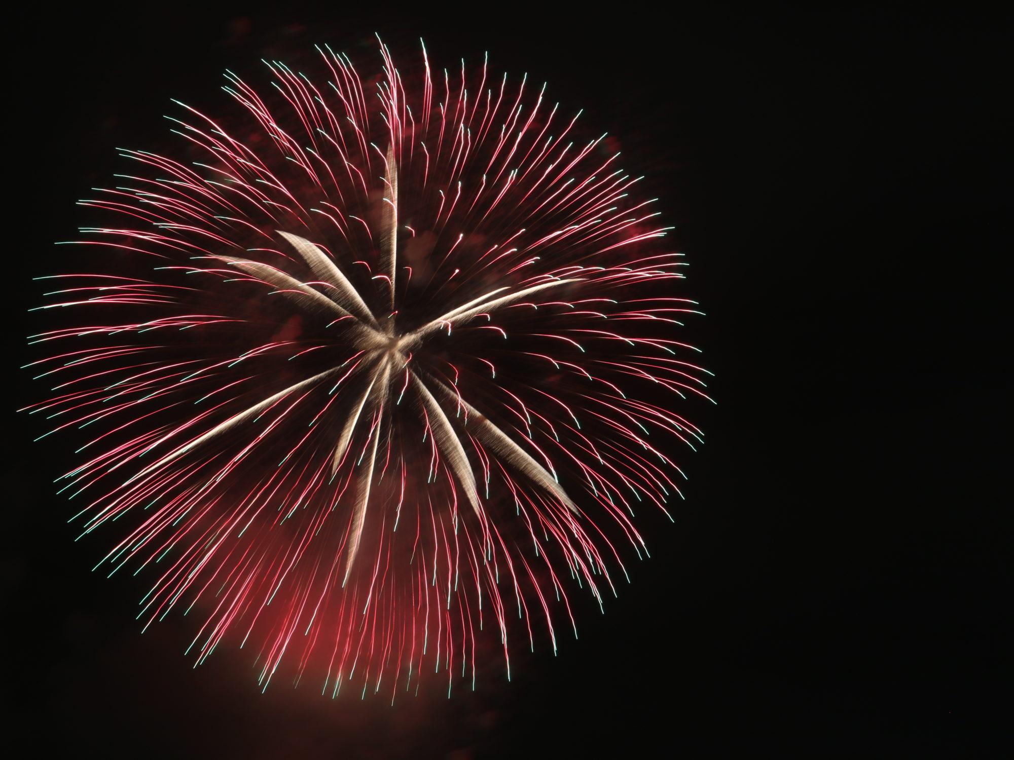 大阪 淀川花火大会のeプラスシートで楽しむ