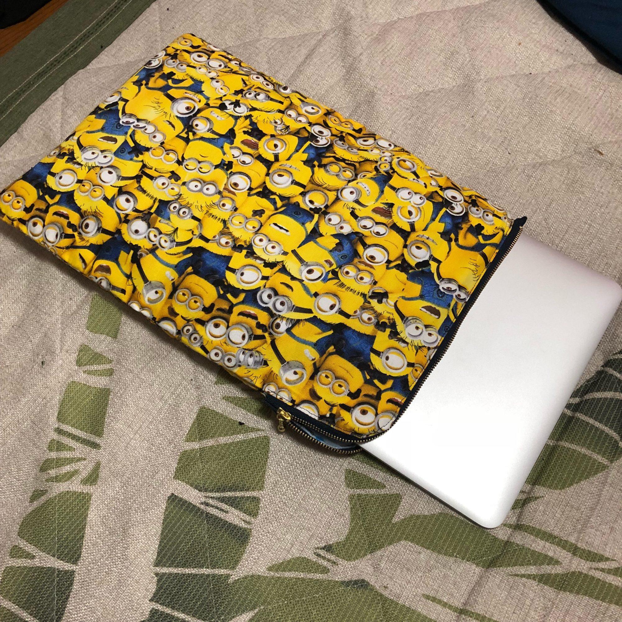 Macbook用のファスナー付き手作りケース!〜適当に作ったら上手にできちゃった〜