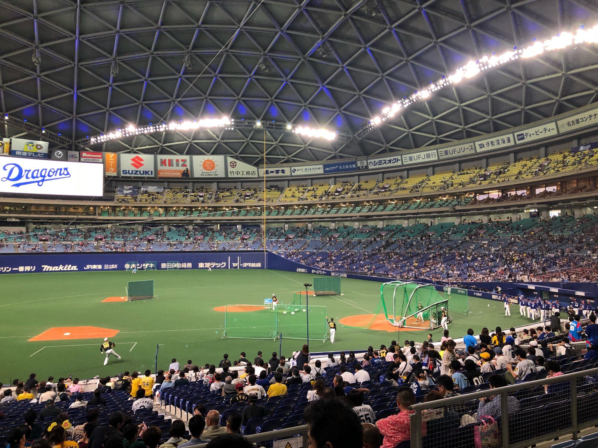 大阪から車で初めてのナゴヤドームへ〜阪神×中日戦を内野SSシート(ビジターシート)で野球観戦、楽しみ方〜