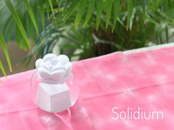 テーブルフォトにチャレンジ!〜3Dプリンター作品(ソリディウム)を可愛く撮る〜