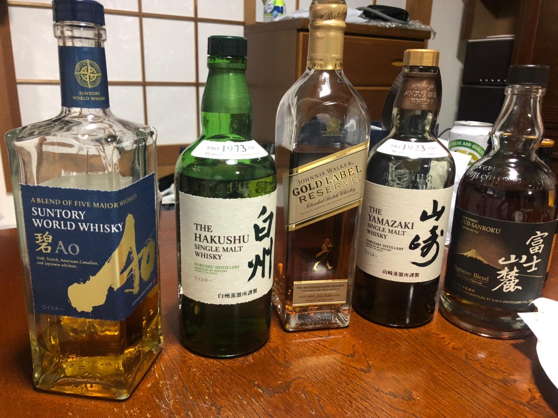ウィスキー6種類飲み比べパーティ