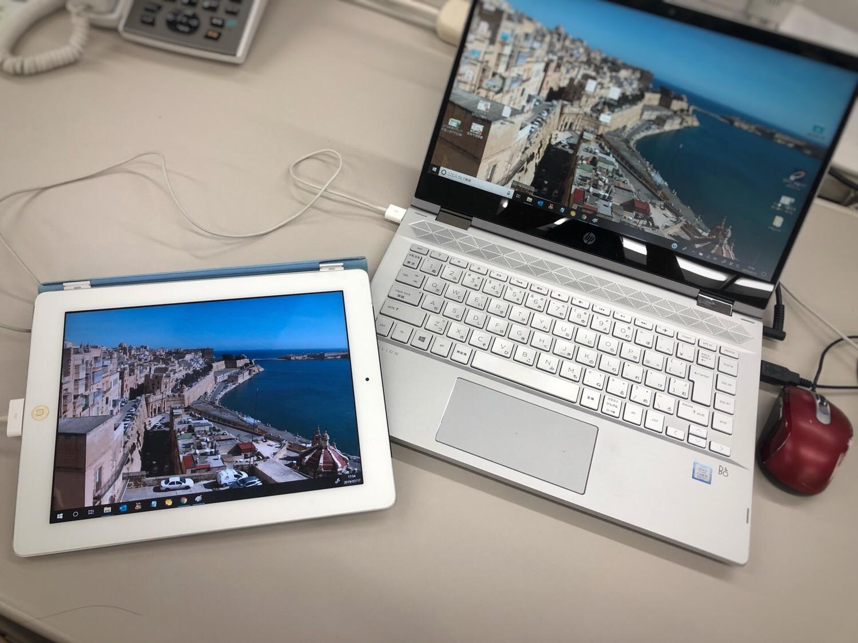 surface goでType-Cからプロジェクターに投影する〜Windows10の他のノートパソコンではうまくできないことも〜